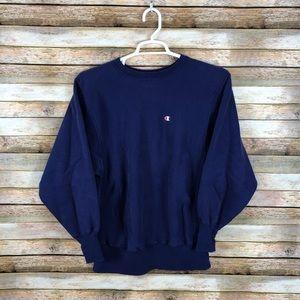 Vintage Revers Weave Champion Patch Sweatshirt
